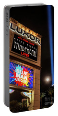 Luxor Pyramid Casino Sign At Night Portable Battery Charger