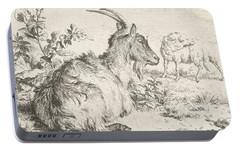 Lying Goat Portable Battery Charger by Adriaen van de Velde