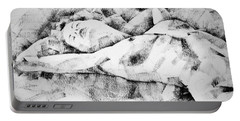 Lying Woman Figure Drawing Portable Battery Charger