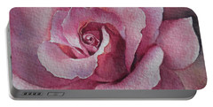 Lyndys Rose Portable Battery Charger by Sandra Phryce-Jones