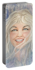 Lynnportrait Of A Young Woman  Portable Battery Charger