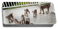 Lynx Family Portrait Portable Battery Charger