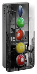 M And Ms In New York City Portable Battery Charger
