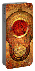 M1911 Muzzle On Rusted Background - With Red Filter Portable Battery Charger