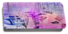 Marina In The Morning Glow Portable Battery Charger