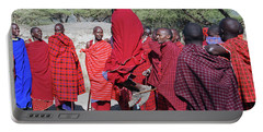Portable Battery Charger featuring the photograph Maasai Adumu Dance Take One by Harvey Barrison