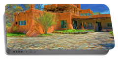 Mabel Dodge Luhan House As Oil Portable Battery Charger
