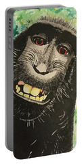 Macaque Monkey Portable Battery Charger