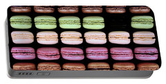 Portable Battery Charger featuring the photograph Macarons - One Missing by Nikolyn McDonald