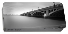 Macarthur Bridge To Belle Isle Detroit Michigan Portable Battery Charger