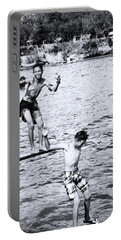 Portable Battery Charger featuring the photograph Macho Boys by Jez C Self