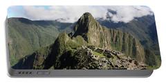 Portable Battery Charger featuring the photograph Machu Picchu Ruin, Peru by Aidan Moran