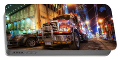 Mack Truck Nyc Portable Battery Charger by Yhun Suarez