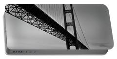 Mackinac Bridge At Sunset Portable Battery Charger