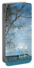 Mackinac Bridge Birch Portable Battery Charger