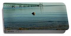 Portable Battery Charger featuring the photograph Mackinac Bridge Michigan by LeeAnn McLaneGoetz McLaneGoetzStudioLLCcom