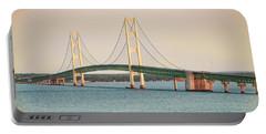 Mackinac Bridge No 2 Portable Battery Charger