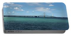 Mackinac Bridge Portable Battery Charger by Scott Cunningham