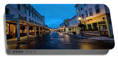 Mackinac Island Town At Dawn Portable Battery Charger