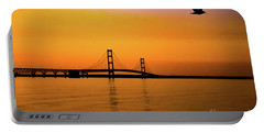 Mackinaw Sunset  Portable Battery Charger