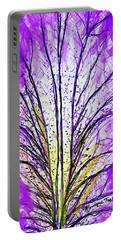 Macro Iris Petal Portable Battery Charger