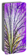 Portable Battery Charger featuring the mixed media Macro Iris Petal by Monique Faella