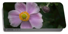 Macro Lavender Blossom Portable Battery Charger
