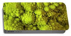 Macro Of Head Of Broccoli Romanesco Portable Battery Charger