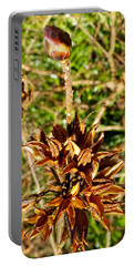 Macro Red Flower Portable Battery Charger