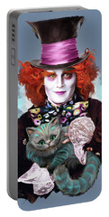 Mad Hatter And Cheshire Cat Portable Battery Charger