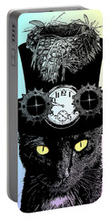Mad Hatter Cat Portable Battery Charger