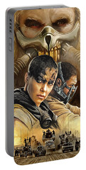 Portable Battery Charger featuring the painting Mad Max Fury Road Artwork by Sheraz A