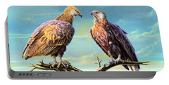 Madagascar Fish Eagle  Portable Battery Charger by Anthony Mwangi
