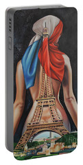 Madame Eiffel Portable Battery Charger