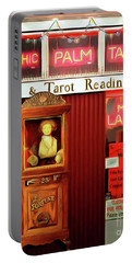 Portable Battery Charger featuring the photograph Madame Lauries Psychic Palm Tarot Fortune Be Told Closed For Holiday Please Use Atm Circa 2016 V2 by Wingsdomain Art and Photography