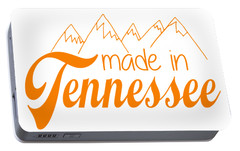 Portable Battery Charger featuring the digital art Made In Tennessee Orange by Heather Applegate
