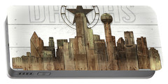 Made-to-order Dallas Texas Skyline Wall Art Portable Battery Charger