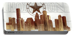 Made-to-order Houston Texas Skyline Wall Art Portable Battery Charger
