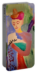 Portable Battery Charger featuring the painting Madeline by Bill OConnor
