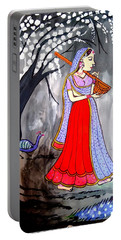 Madhubani-indian Miniature Portable Battery Charger