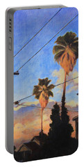 Madison Ave Sunset Portable Battery Charger by Andrew Danielsen