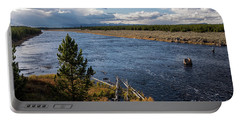 Madison River In Yellowstone National Park Portable Battery Charger