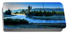 Madison River Yellowstone At Dawn Portable Battery Charger
