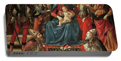 Madonna And Child Enthroned With Saints Portable Battery Charger