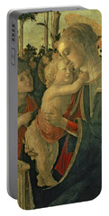 Madonna And Child With St. John The Baptist Portable Battery Charger