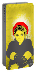 Madonna On Yellow Portable Battery Charger