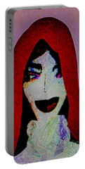 Madonna Mary Portable Battery Charger by Ann Calvo
