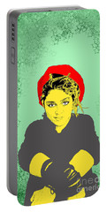 Madonna On Green Portable Battery Charger