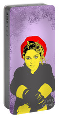 Madonna On Purple Portable Battery Charger