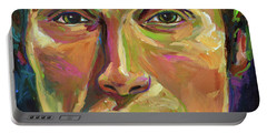 Mads Mikkelsen Portable Battery Charger by Robert Phelps
